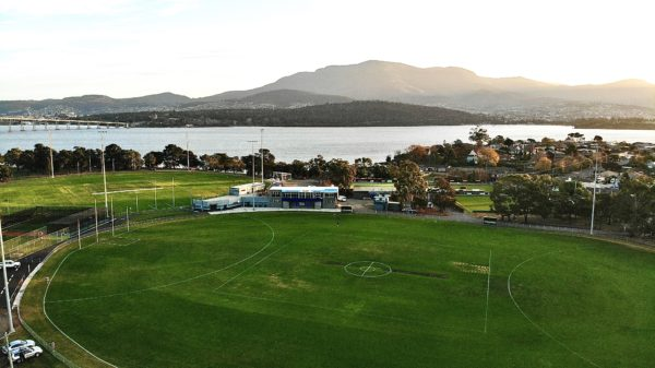 Anzac Park home of the Lindisfarne Football Club the Two Blues